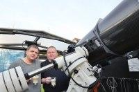 Friedhelm Hallmann zu Gast in unserer Sternwarte