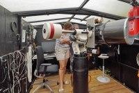 Frau Plättner zu Besuch in unserer Sternwarte