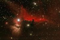 Pferdekopf- und Flammennebel in der Orionregion