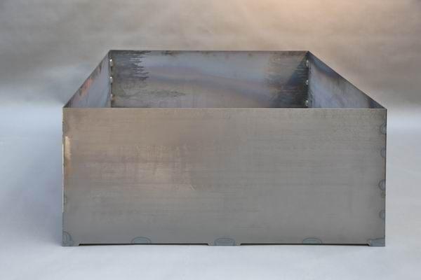 Pflanzgefäß aus 3 mm Corten Stahl