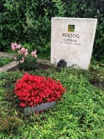 Grabbepflanzung als Herz aus Edelstahl