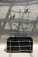 Rankgitter, die wir um eine Rankgefäß herum gebaut haben