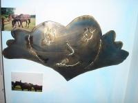 lachendes Herz - Magnetpinnwand aus Kinderhand