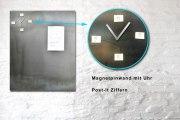 Pinnwand mit einer Uhr aus 3 mm Stahlblech