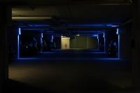 Beleuchtung einer Tiefgarage in der Pippelsburg in Hildesheim