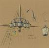 verschiedene Entwürfe für Piraten Leuchten für ein Hotel