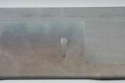 Prospekthalter aus 3mm Zunderstahl