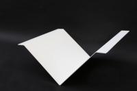 Zeitungsablage mit einer Pulverbeschichtung in Weiß