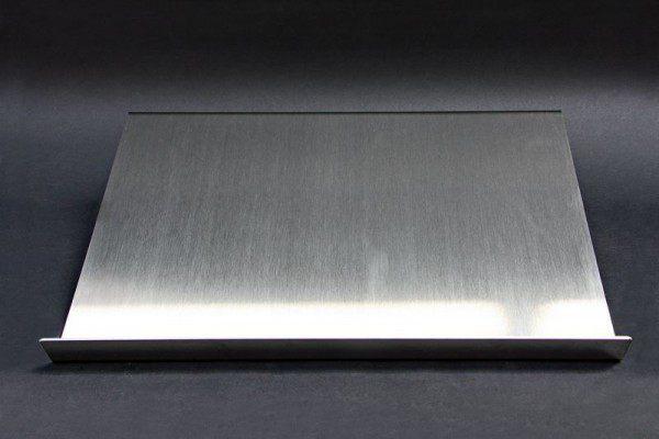 Prospekthalter aus 2 mm Edelstahl