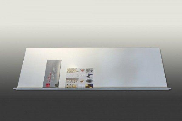 Design Prospekthalter aus lackiertem Stahl, 120cm