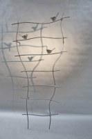 ...und noch eine Rankgitter mit  gelaserten Stahlvögeln