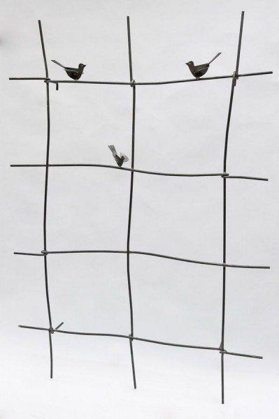 Rankgitter mit 3 Stück Eisenvögeln