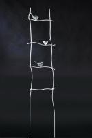 Rankhilfe mit gelaserten Stahl-Vögeln