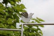 Rankgitter in Schmitzstruktur mit 4 gelaserten Vögelchen