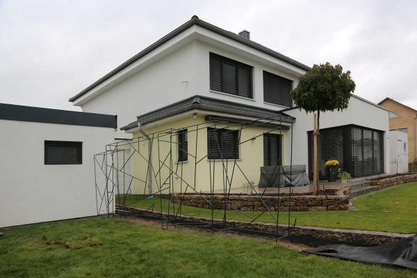 Zaun aus Rankelementen mit Schmitzstruktur