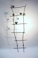 Vogelgitter aus 12 mm verzinktem und lackiertem Rundstahl als Rankhilfe