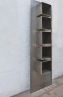 Stahlregal mit fünf Körpern aus 3 mm Stahlblech