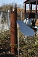 Reflektor für einen Bodenstrahler aus Edelstahl
