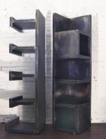 Stahlregale aus 3 mm Stahlblech als Körper geschweißt