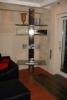 Beleuchtetes, drehbares HiFi Regal aus Edelstahl und Glas mit Halterung für Plasma TV
