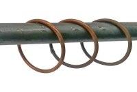 Gardinenringe aus Stahl für unsere Vorhangstangen und Gardinenstangen