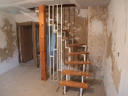Rohtreppe aus Stahl mit Baustufen