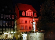 Lichtinszenierung am historischen Marktplatz in Hildesheim - Romantische Nacht
