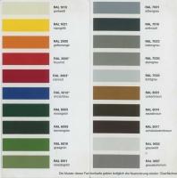 Farbige Beschichtung, die zuverlässig auf frisch verzinktem Stahl hält - Farbscala