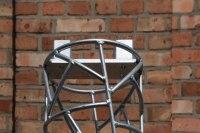 Säule in Schmitzstruktur für ein Terrassendach