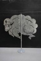 Schäfchenwolke - Schaf aus Edelstahl als Wetterfahne