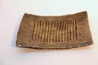 Zahlteller aus 8mm Stahlstäben geschmiedet mit Messingabrieb