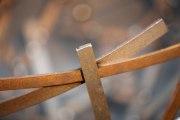 Schalenskulptur aus 5mm  Stahl im Durchmesser von 50 cm