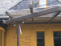 traumhafte Terrassenüberdachung als Schiebedach