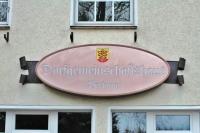 Schild aus Kupfer für das Dorfgemeinschaftshaus in Berkum