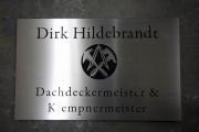 Anlassbeschriftetes und gelasertes Schild aus Edelstahl