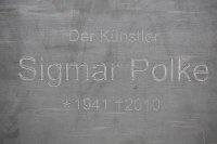 Gedenktafel für Sigmar Polke