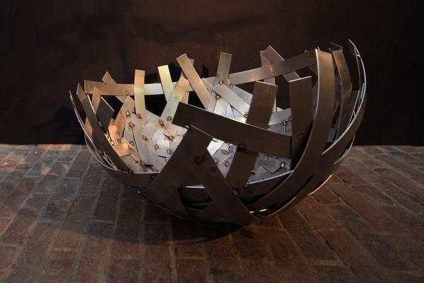 Schale aus Corten Stahl, Durchmesser 80 cm