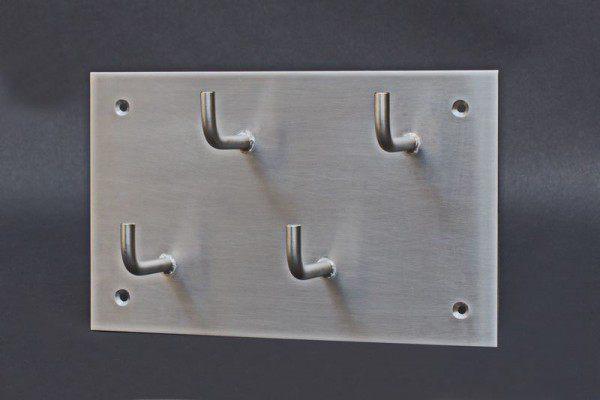 Schlüsselbrett aus 3 mm Rohstahl