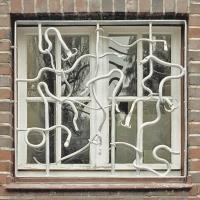 fabelhaftes Fenstergitter aus Stahl geschmiedet und feuerverzinkt, Preis pro qm