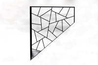 Schmitzstruktur Gitter für ein Treppenhaus