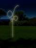 Verschiedene Figuren aus Rundeisen gebogen und mit einem Lichtschlauch nachgezeichnet