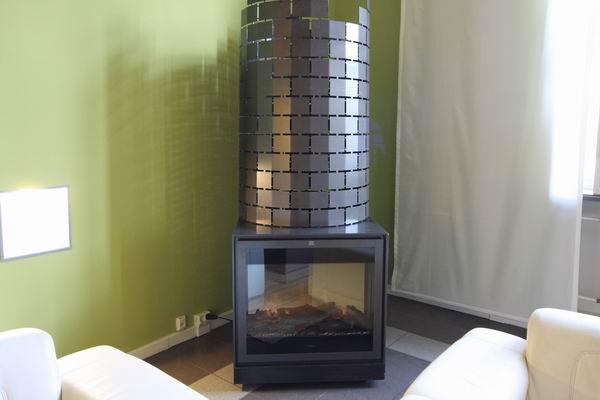 elektrisches Kaminfeuer für die Gästeresidenz Pelikan in Hannover