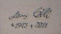 Individuelle handschrift aus Edelstahl für einen Grabstein