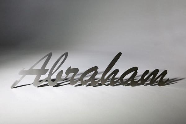 Schriftzug aus beständigem Edelstahl