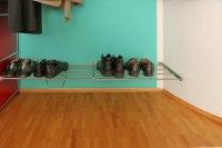 Edelstahlroste für Schuhe, Platz ist in der kleinsten Nische