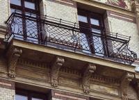 Geschmiedetes Balkongeländer in der Schwägrichstr in Leipzig