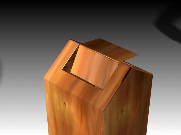 Schwingdeckel Aschenbecher aus Tombak