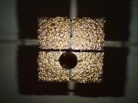 Kronleuchter aus vergoldeter Kupferfolie