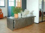 Unikat - Sideboard aus Stahl mit Schiebetüren