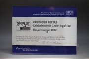 Award - Sieger Award 2012, Gerechte Chancen in der Arbeitswelt